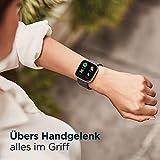 Fitbit Versa 2 - Gesundheits- & Fitness-Smartwatch mit Sprachsteuerung, Schlafindex & Musikfunktion, Schwarz/Carbon - 5