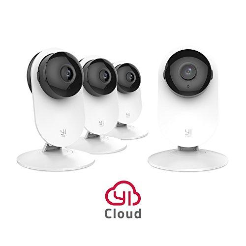 YI Camera IP Telecamera di Sorveglianza Wireless 1080p (Kit da 4) - Videocamera di Sicurezza da Interno WiFi Full HD - Confezione Formato Famiglia da 4 -Servizio di Archiviazione in Cloud Disponibile