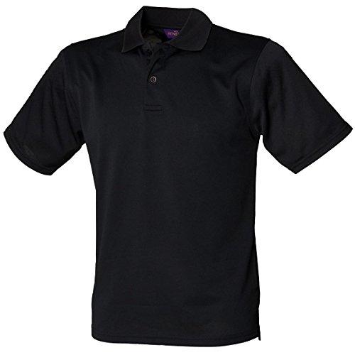 HenburyHerren Poloshirt Schwarz - Schwarz