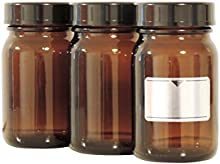 Viva-Haushaltswaren-8weithals 200ml./5botellas vasos farmacia en marrón cristal, incluye etiquetas