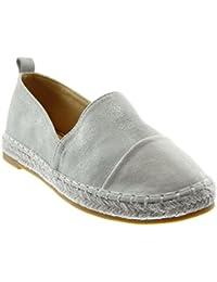 592929982 Angkorly Women's Fashion Shoes Espadrilles - Slip-on - Cord - Braided Block  Heel 2