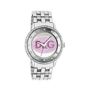 Dolce & Gabbana - DW0848 - Montre Femme - Quartz Analogique - Cadran Rose - Bracelet Acier Argent