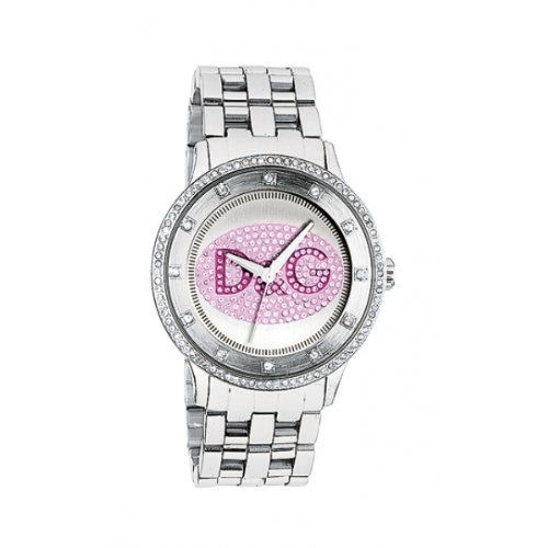 b6383318f321 Dolce   Gabbana DW0848 - Reloj analógico de cuarzo para mujer con correa de acero  inoxidable