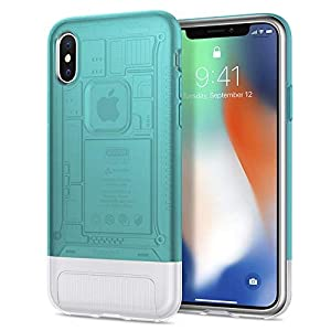 Spigen - 057CS23194 - Coque iPhone X, [Classic C1] 10th Anniversary Special / Limited Edition - Coque pour Apple iPhone X (2017) [Bondi Blue]