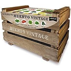 Semillas Batlle-Kit Complet Potager Urbain Vintage, 50x 33x 30cm
