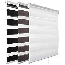 KINLO 60/80/90/100 x 150 CM Día/Noche Ajustable Cortina Termica Enrollable Estor Opaco Doble Tela Resistente a UV para Ventana