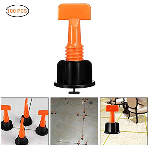 100Pcs Reusable Tile Positioning Leveler Wedges Tile Floor Wall Leveling Locator System