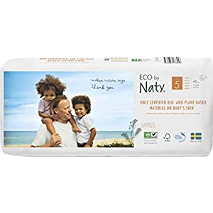 Eco by Naty, Größe 5, 80 Windeln, 11-25kg, pflanzliche Premium-Bio‑Windeln mit 0% ölhaltigem Kunststoff auf der Haut.