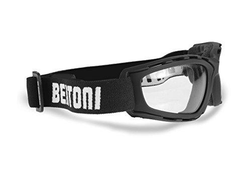 Motorradbrille Photochromatischen Schutzbrille Selbsttönend Automatische Antibeschlag und UV schutz - by Bertoni Italy - F120 Bikerbrillen