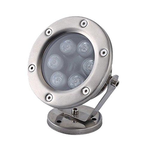 Homyl 12V 6W Flutlicht LED lampen Leuchte für Schwimmbad Teich Aquarium Springbrunnen, wasserdicht und lange Lebensdauer - Grün -