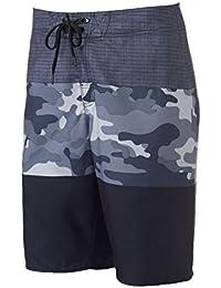 8ead7ec40f Hang Ten Hang Ten Mens Camo Stretch Swim Bottom Board Shorts black 28
