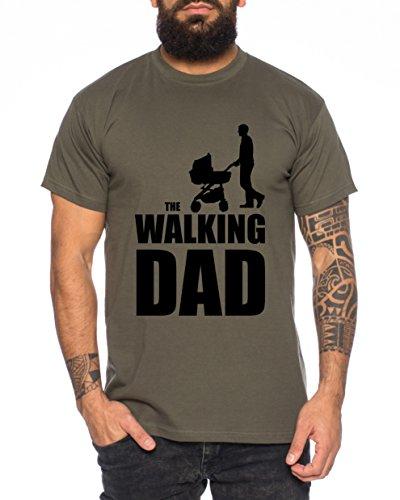 The Walking Dad Uomo T-Shirt Nerd Dead, Farbe2:Khaki;Größe2:M