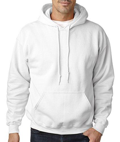Gildan Heavy Blend Kapuzenpullover (XL) (Weiß) XL,Weiß
