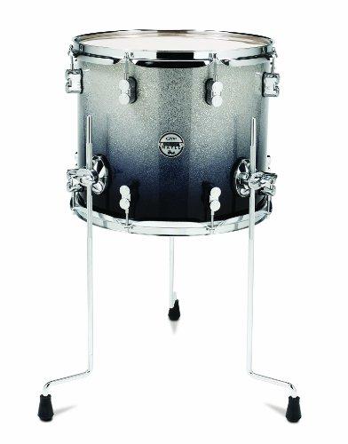 Pacific Drums pdcm1214ttsb 30,5x 35,6cm Floor Tom, mit Chrom Hardware-Silber zu schwarz verblassen