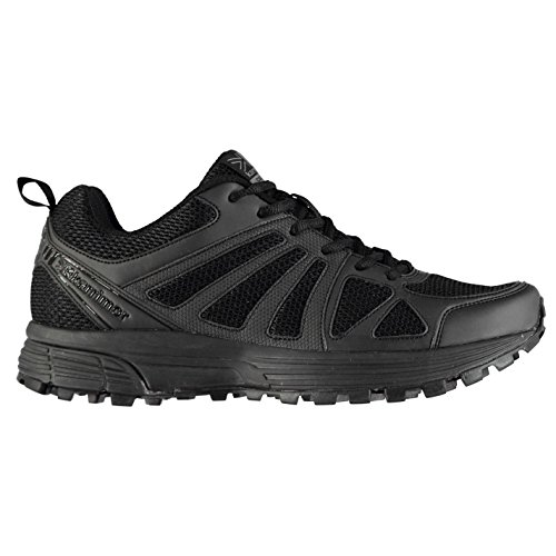 Karrimor Mens caracal Trail Running Shoes Lace Up Breathable Padded Ankle Collar Black/Black UK 9 (43)