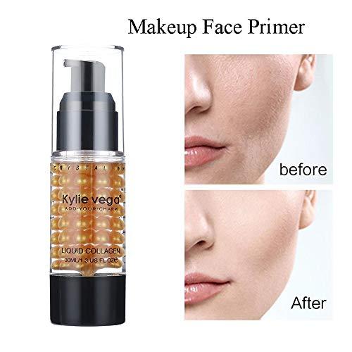 Cwemimifa Flüssige Grundierung, Isolation Feuchtigkeitsspendende Essenz Make-up Milch Basis Gesicht Make-up Primer,Gold -