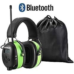 PROHEAR 033 Bluetooth Casque Anti Bruit avec Radio FM/AM SNR30dB,Protection Auditive pour Fauchage Le Travail du Bois Construction