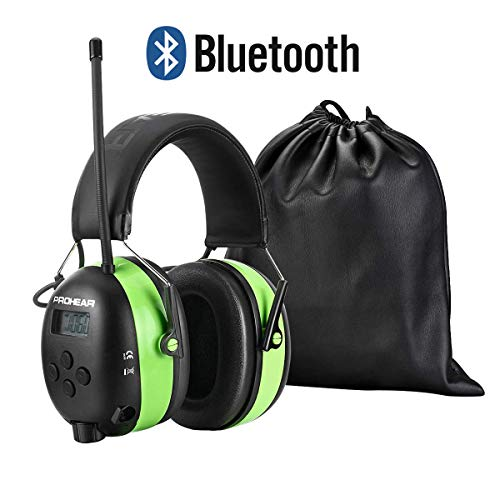 PROHEAR 033 Bluetooth Casque Anti Bruit avec Radio FM/AM SNR30dB,Protection Auditive pour Fauchage Le Travail du Bois Construction