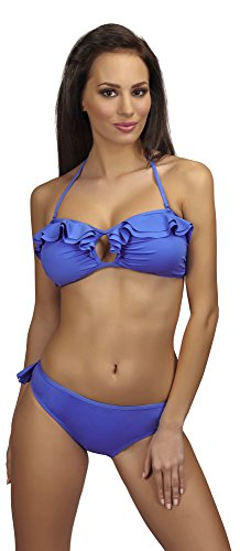 SHE Damen Bikini Set Alice (Blau (110), Cup 75 A / Unterteil (Klassische Kostüme Alice)