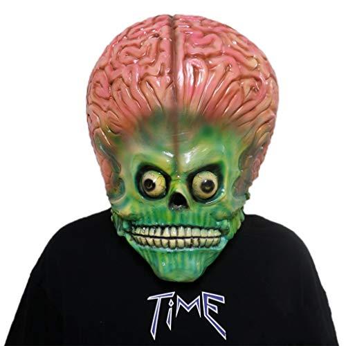 GXDHOME Latex Kopf Maske, Schädel Kopf Halloween Kostüm Horror Scary Teufel Demon Masquerade Bloody Creepy Kostüm