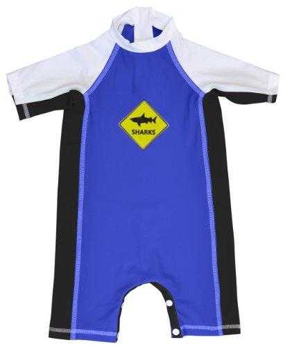 Fedjoa -Französische Design - Baby UV Schutz Schwimmanzug mit UV-Schutz 50+ - SHARKS 24/36 Monate