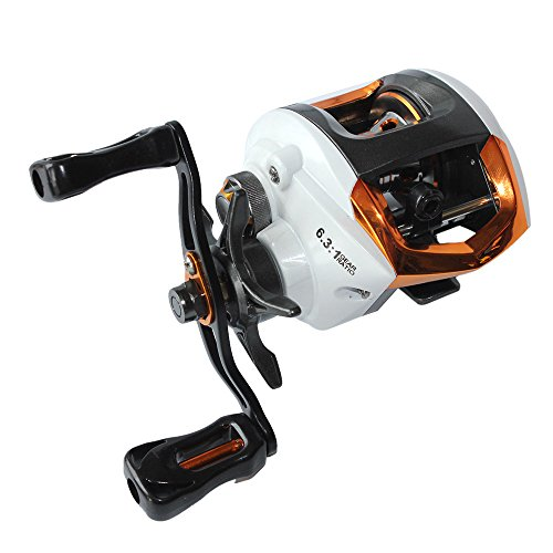 Lixada Baitcastingrolle Angeln Fly High Speed Angelrolle mit Magnetbremssystem 12 + 1 Kugellager (Fly Reel Mit Linie)