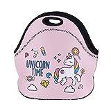 TOPFAY Damen Kinder Jungen und Mädchen und Männer Mittagessen Taschen Unicorn Lunch Boxes Wasserdichte Zipper-Beutel 1pc