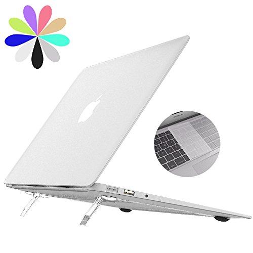 Macbook Air 13 Hülle Kippständer, Bidear [Cooling Pad Series] Weiche Kunststoff Durchsichtige Laptop-Abdeckungs Hartschale & Transparent-Tastatur-Abdeckung für Apple Macbook Air 13 Zoll -Modell: A1369 / A1466 (Klar) (Spider-laptop-tasche)