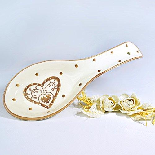 Albalù italia bomboniere portamestolo ceramica shabby chic