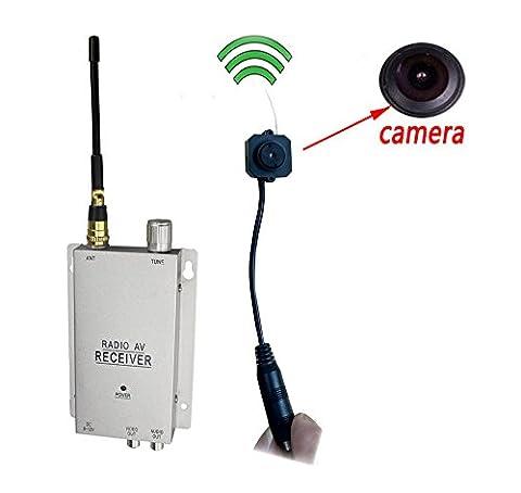 Podofo® Wireless Security Camera with Receiver Spy Pinhole Micro Cam