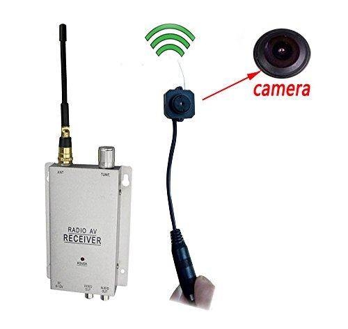 Podofo® Wireless Überwachungskamera mit Empfänger Spy Pinhole Micro Cam Vollständige Überwachungsanlage CCTV-Kamera