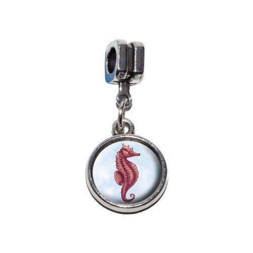 Seepferdchen–Sea Horse italienischen europäischen Euro-Stil Armband Charm Bead–für Pandora, Biagi, Troll,, Chamilla,, andere