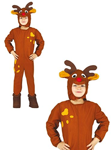 Rentier Kostüm Kind 5-6 Jahre (Kinder Rudolph Kostüm)