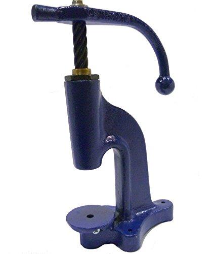 Knopfmaschine, Knopfpresse, Spindelpresse zum beziehen von Knöpfen / Knopfrohlinge (Astor Leder)