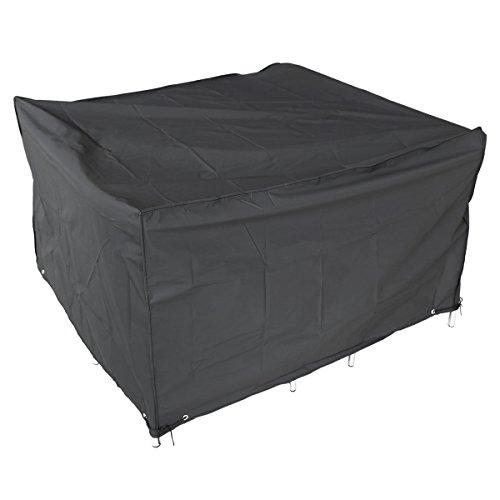 Housse de protection noir pr meubles extérieurs Bâche de couvercle cube 120x120x74cm