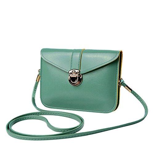 Taschen Damen,Frauen Handtasche Tasche Leder Schultertasche Schulter Messenger Phone Bag LMMVP (K) (Handtasche Stil Schulter)