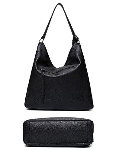 Europäische Kleine Mode einzelnen Umhängetasche Oblique Cross-Body Scrub Tasche Kette Taschen Schwarz