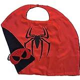 Spiderman Superhero Costume Cape And Mask Set For Kids