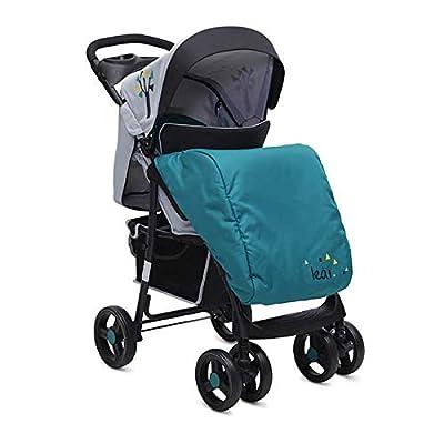 Kombikinderwagen Lea 2 in 1 mit Babyschale, Vorderräder 360° schwenkbar (Türkis)