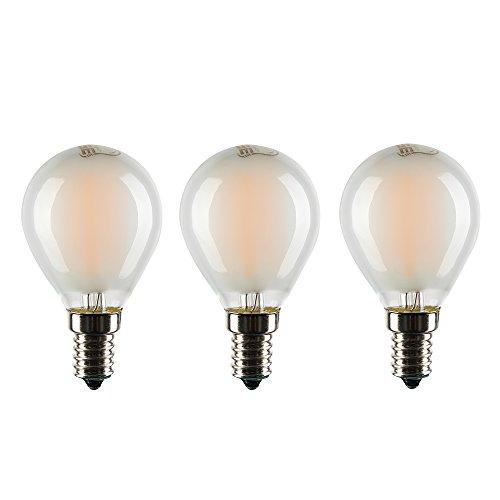 Frosted Led (aselihgt G456W Vintage Leuchtmittel LED, Golf Ball Leuchtmittel, E14Milchglas dimmbar 2700K Edison Filament Glühlampen, LED Leuchtmittel g45a-e14-frosted, 3Stück)