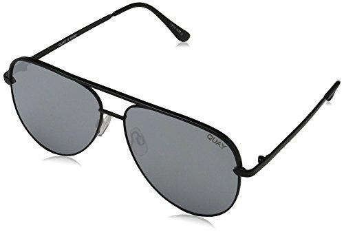 Quay Eyewear QC-000142 HIGH KEY Oval Sunglasses 150, black/silver
