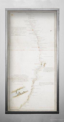 New York Karte Company (TM) 1784-1787Karte Canada|Nova scotian|Maine|Saint John River Zeigen die Post Route Zwischen Den RIV|Historic Antik Vintage Reprint|Ready Zum Rahmen -