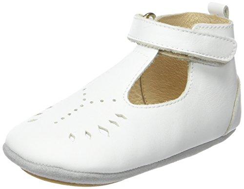 Robeez Baby Mädchen Mini Toe Krabbel- & Hausschuhe, Weiß (Blanc 3), 21 EU Robeez Mini