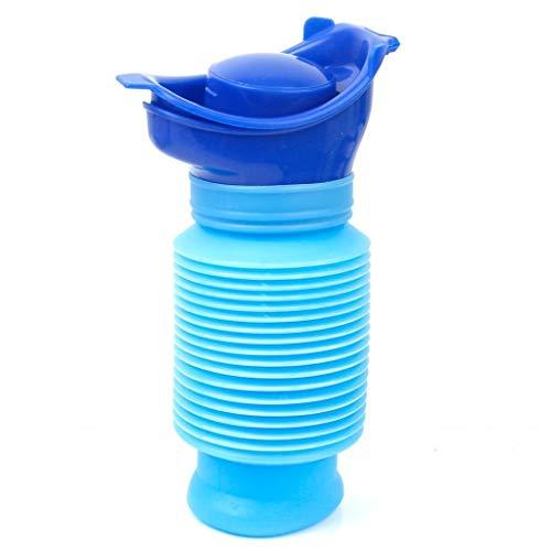 UTUIO Notfall-Urinal, tragbare Mini-Outdoor-Camping-Reise Schrumpfbare persönliche Mobile Toilette Potty Pee Bottle für Kinder Erwachsene (750 ml) Auto/Outdoor