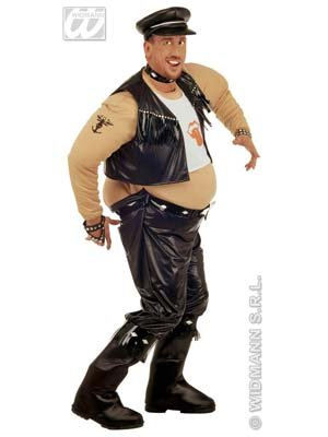 Kostüm Fat Suit Biker Gr. (Suit Halloween Fat)