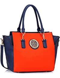6f06b92472 Womens Faux Leather Shoulder Bags Ladies Handbags Designer Style Tote New  Large Luxury New Look