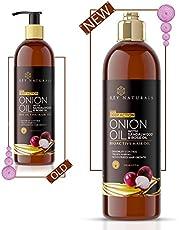 Rey Naturals Onion Hair Oil with 14 Essential Oils - Controls Hair Fall- 200ml