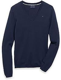 e432c4d08b64a2 Tommy Hilfiger Damen Pulli, Pullover, Sweater V-Neck, Size: X-