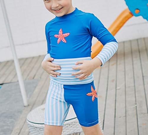 DOOUYTERT Klassisch Kinder Langarm Split Badeanzüge Kinder Seestern Muster Neoprenanzug für Wassersport (blau) (Farbe : Blau, Größe : 100cm)