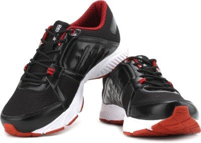Reebok Men's Edge Quick Lp Black, White and Red Running Shoes  - 9 UK